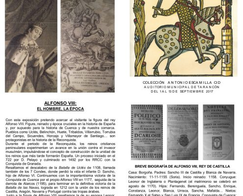 FOLLETO EXPOSICION ALFONSO VIII