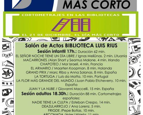 cartel CORTOS 2018 con programa