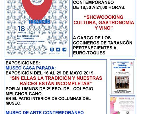 PROGRAMACION DIA DE LOS MUSEOS