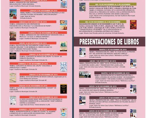marquesina agenda cultural Noviembre AYTO TARANCON