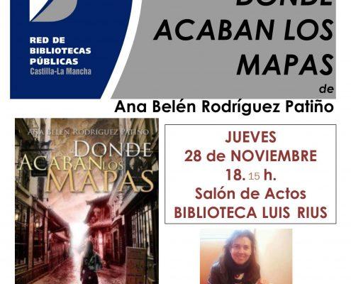 cartel DONDE ACABAN LOS MAPAS